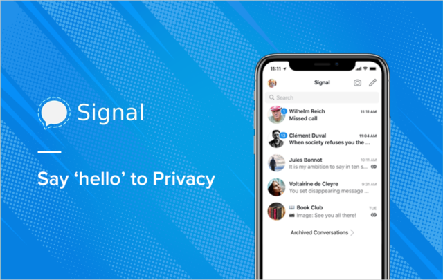 Fuss about Signal and Whatsapp