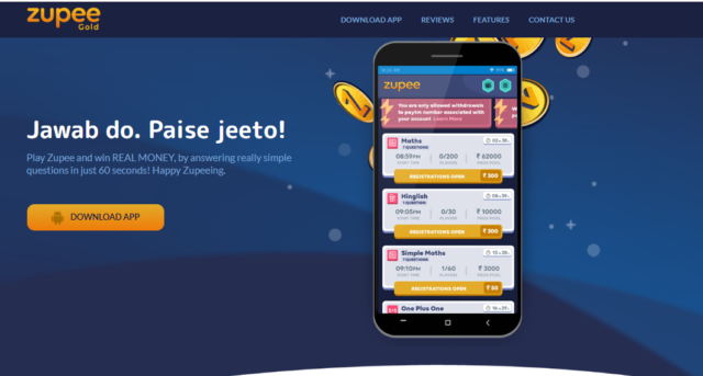 Mobile Gaming Platform Zupee