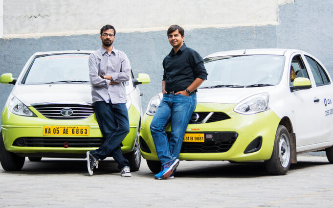 Image of mobility service provider Ola co-founders