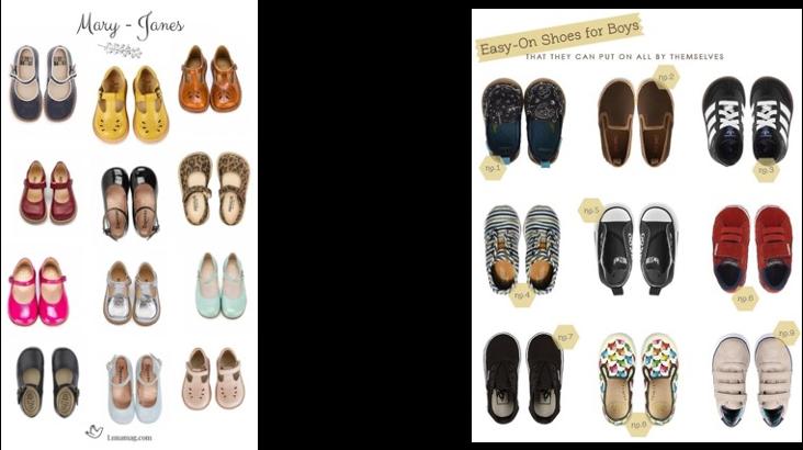Footwear range for kids