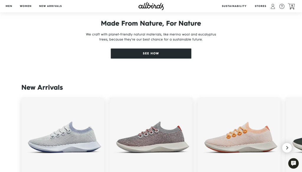 Allbirds shoes made from sustainable wool fabric