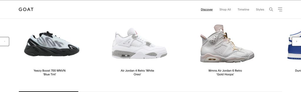 Goat online marketplace for footwear