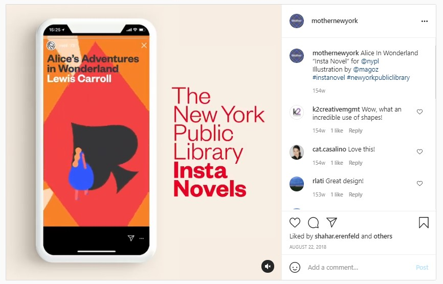 Screenshot from Mother New York's Instagram Page